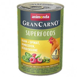 400 Gr Gran Carno Superfood Tavuk + Ispanak, Ahududu, Kabak Çekirdeği