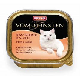 Vom Feinsten Kısırlaştırılmış Kedi Hindi + Somon 100 Gr