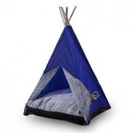 Büyük Kedi-Köpek Çadırı Mavi 60x60x80 CM