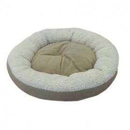 Simit Kedi Köpek Yatağı Bej