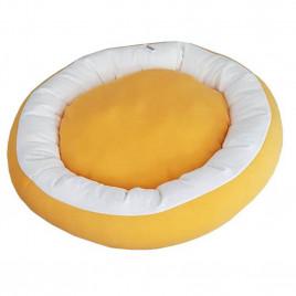 Simit Kedi-Köpek Yatağı Sarı-Beyaz