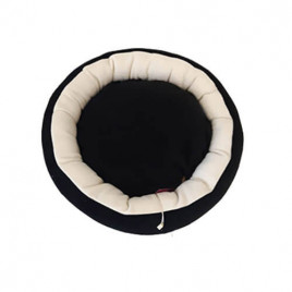 Simit Kedi Köpek Yatağı Siyah