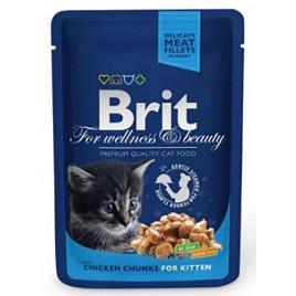 Brit Premium Cat Pouches Chicken Chunks for Kitten 100 Gr