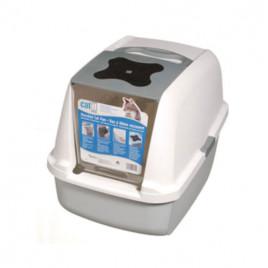 Catit 57x46,5x39 Cm Kapalı Tuvalet Kabini Beyaz Gri