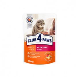 Club 4 Paws Premium Pouch Yetişkin Soslu Dana Etli 6x100 Gr