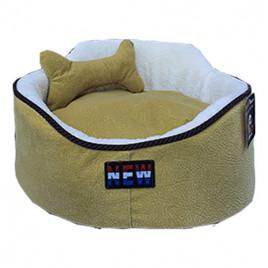 Oval Köpek Yatağı Hardal M 60x60 Cm