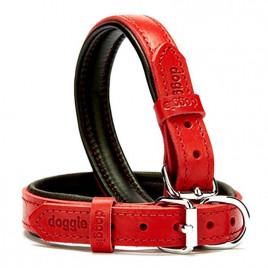 2x35-40 Cm Yumuşak Pedli Firstclass Deri Boyun Tasma Kırmızı