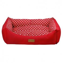 XL 70X95X22 Cm Tarte Dikdörtgen Yatak Vr01 Kırmızı Benekli