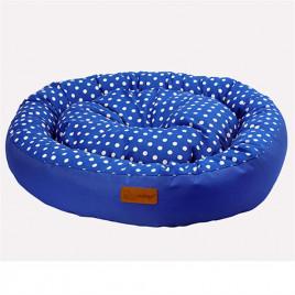 Tarte Yuvarlak Yatak Vr02 P.Mavi Benekli Medıum 65x15 Cm