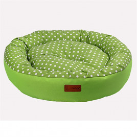 Tarte Yuvarlak Yatak Vr03 F.Yeşili Benekli Medıum 65x15 Cm