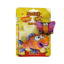 EuroCat Kedi Oyuncağı Kelebekli Turuncu Balık