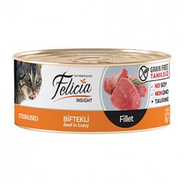 Tahılsız Sterilised Biftekli Fileto 24x85 Gr
