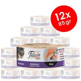 12 Adet Tahılsız Sterilised Somonlu Fileto 85 Gr