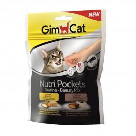 GimCat 150 Gr Nutripockets Taurin-Beauty Mix Kedi Ödülü