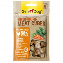 GimDog Superfood Meat Cubes Chicken with Carrot and Spinach 40 Gr