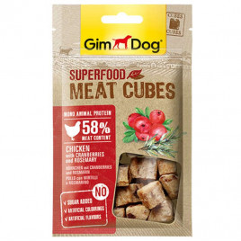 GimDog Superfood Meat Cubes Chicken with Cranberries and Rosemary 40 Gr