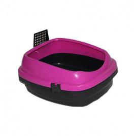 Pet Style Açık Kedi Tuvaleti Pembe 49.5X40X22 Cm