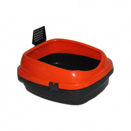 Pet Style Açık Kedi Tuvaleti Turuncu 49,5x40x22 Cm