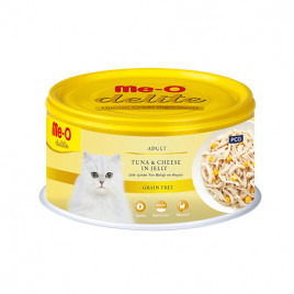 Me-O Delite Adult Tuna & Cheese in Jelly 6x80 Gr