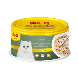 Me-O 80 Gr Delite Adult Tuna & Vegetables in Jelly