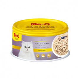 Me-O 80 Gr Delite Adult Tuna & Chicken in Jelly