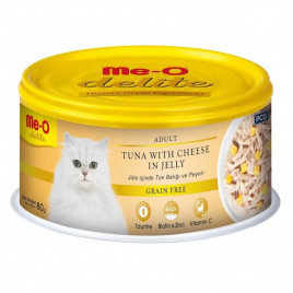 Me-O 80 Gr Delite Adult Tuna & Cheese in Jelly