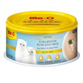 Me-O 80 Gr Delite Kitten Tuna Mousse with Goat Milk