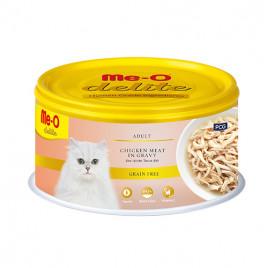 Me-O Delite Adult Chicken Meat in Gravy 6x80 Gr