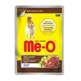 Me-O 80 Gr Adult Beef Chunk in Jelly