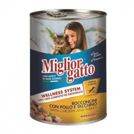 Gatto 405 Gr Chunks With Chicken And Turkey