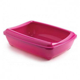 Aristo Açık Kedi Tuvalet Kabı Fuşya 42 Cm