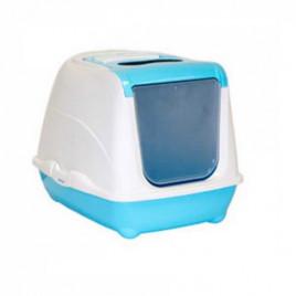Flip Kapalı Kedi Tuvaleti Mavi