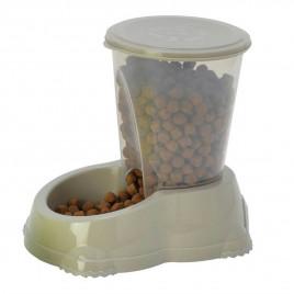 Kedi Ve Köpek Snacker Mama Kabı Gri 1,5 Lt