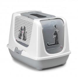 Trendy Desenli Kapalı Kedi Tuvaleti 50 Cm