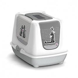57 Cm Trendy Love Kapalı Kedi Tuvaleti