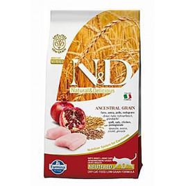 N & D Low Tavuk&Nar Kısırlaştırılmış Yetişkin Kedi Maması 10 Kg
