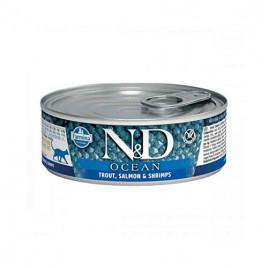 N & D Ocean Alabalık Somon Karides Yetişkin Kedi Konservesi 6x80 Gr