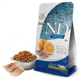 N & D Ocean 1,5 Kg Neutered, Herring & Orange
