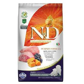 N & D Pumpkin 12 Kg Lamb & Blueberry Puppy Medium & Maxi
