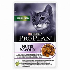 Kısırlaştırılmış Yetişkin Kedi Pouch Hindi Etli 24x85 Gr