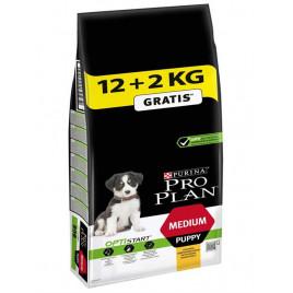 Pro Plan 12+2 Kg Medium Puppy Optistart Chicken