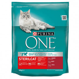 Purina One 800 Gr Steril Cat with Beef & Wheat