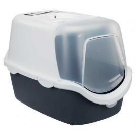 Kedi Kapalı Tuvalet Kabı, 40×40×56 Cm Gri