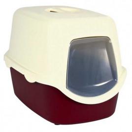 40x40x56 Cm Kapalı Tuvalet Bordo-Krem
