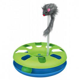Kedi Oyuncağı, Peluş Fareli Daire 24x29 Cm
