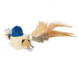 Kedi Oyuncağı, Peluş Kuş Tüy Kuyruklu, 8 Cm