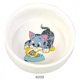 Kedi Seramik Mama Ve Su Kabı, 0,3 Lt 11 Cm