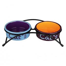 Kedi Seramik Mama&Su Kabı Seti 2X0,3 Lt