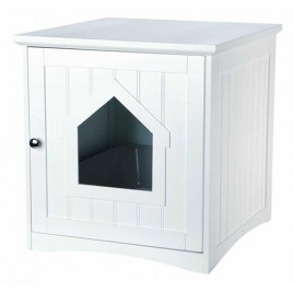Kedi Tuvalet Evi,  49X51X51cm Beyaz