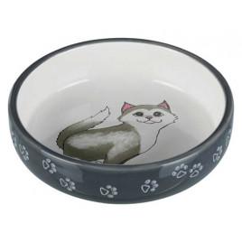 Kısa Burunlu Kedi Seramik Mama Su Kabı